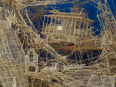 Toothpick sculpture closeup, Exploratorium
