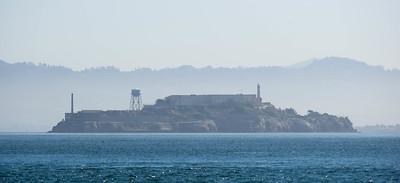 Alcatraz Island surrounded by mist