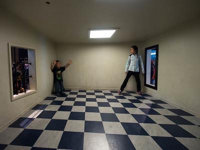 Forced perspective room, Exploratorium