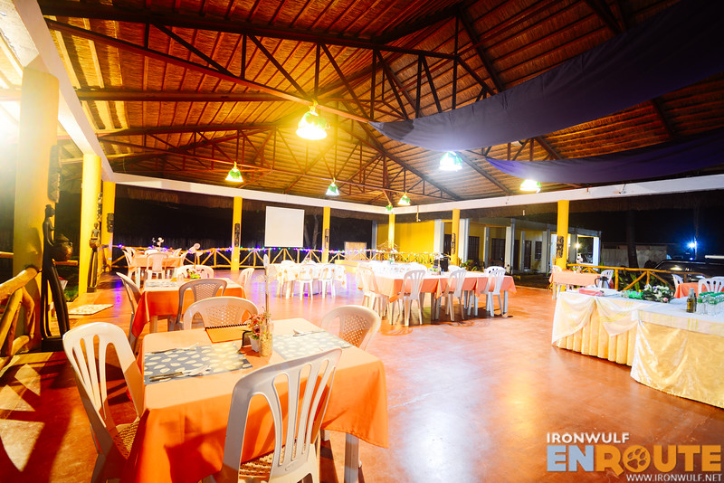 The mulit-purpose dining and events hall of the resort