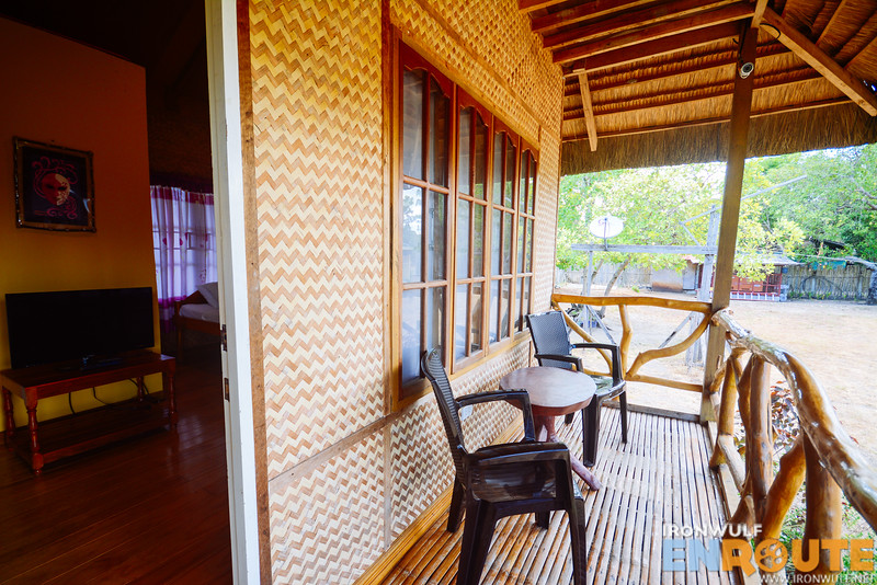 The private balcony of the Premium Traditional Hut