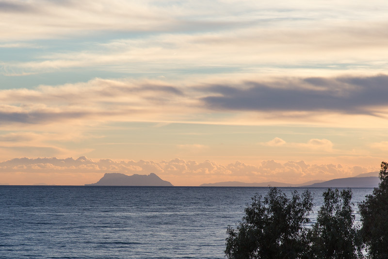 View of Rock of Gibraltar from Apartment at Playa Andaluza