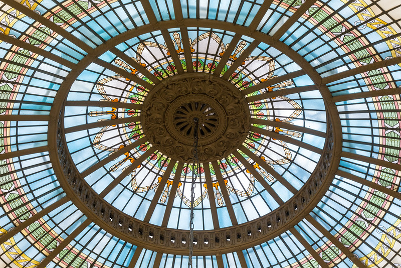 Stained Glass Dome, Westin Palace Hotel, Madrid