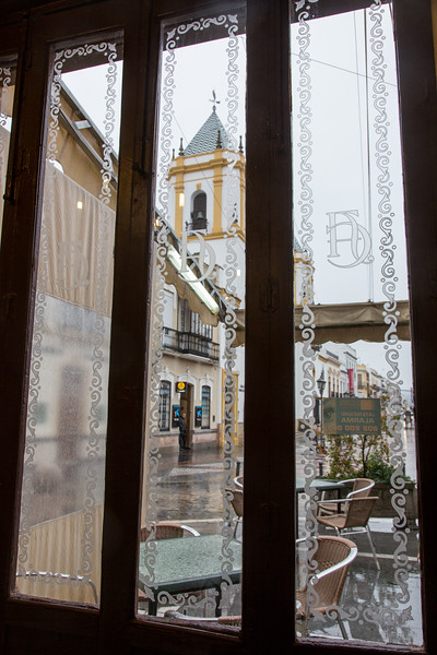 View of Plaza del Socorro from Cafe, Ronda