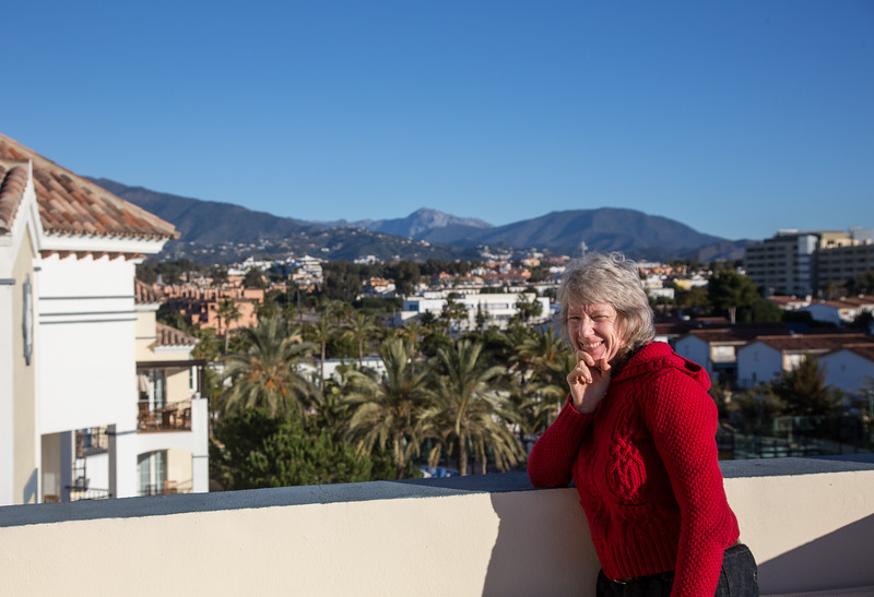 View North from Playa Andaluza Apartment, Costa Del Sol
