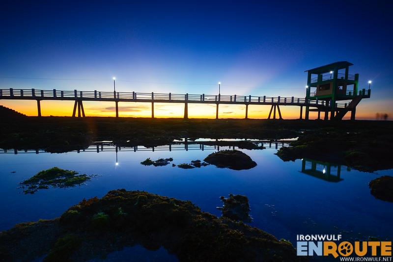 Sunset at Bontay Boardwalk