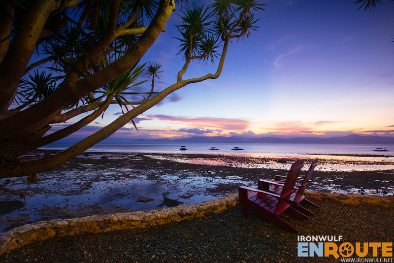 Enjoy the sunset sitting on one of the adirondack chairs