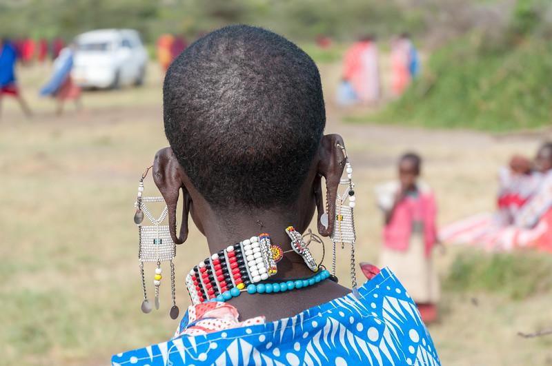 Woman at a Maasai boma near Enashiva, Tanzania.