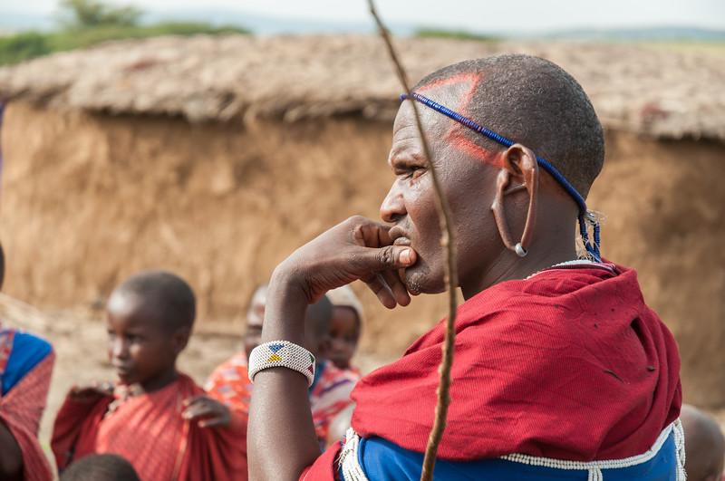 Man at a Maasai boma near Enashiva, Tanzania.