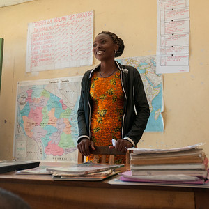 Head teacher at Community school near Enashiva reserve, Tanzania.