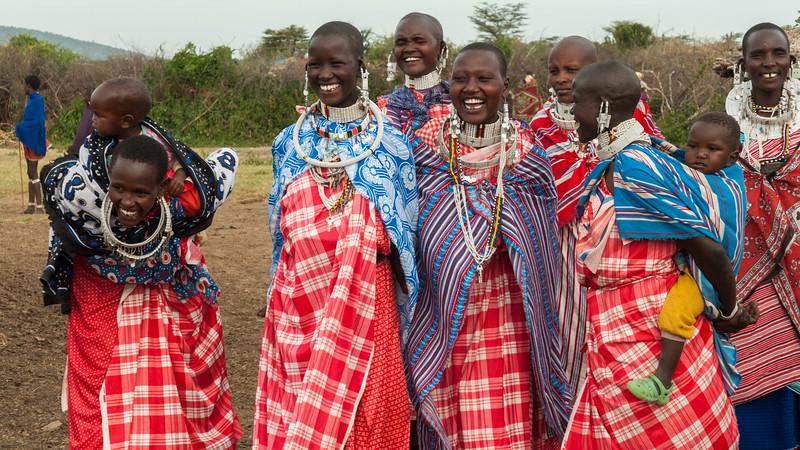 Women at a Maasai boma near Enashiva, Tanzania.