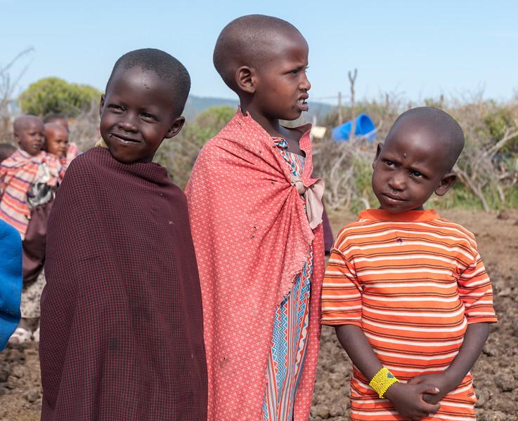 Children at a Maasai boma near Enashiva, Tanzania.