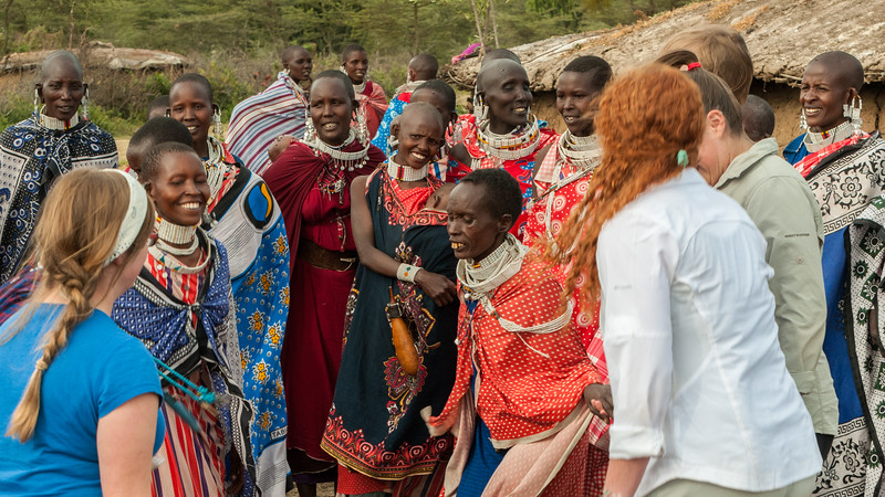 Dance with the women at a Maasai boma near Enashiva, Tanzania.