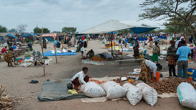 Market day in a village along the road to Lake Manyara N.P. Tanzania.