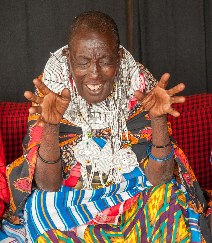 Storyteller at Enashiva reserve, Tanzania.