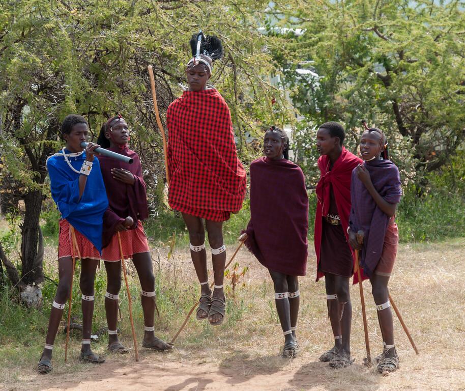 Maasai song and dance at Enashiva, Tanzania.