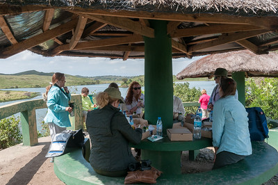 Picnic lunch in Arusha National Park.