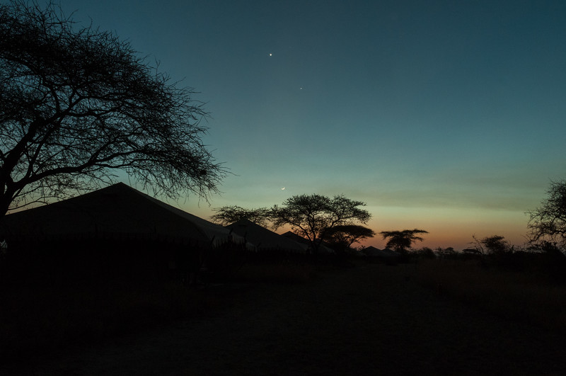 Sunset at west-central nyumba, Serengeti N.P., Tanzania.