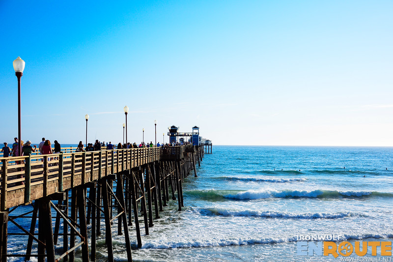 The Oceanside pier is one of the longest wooden piers in America