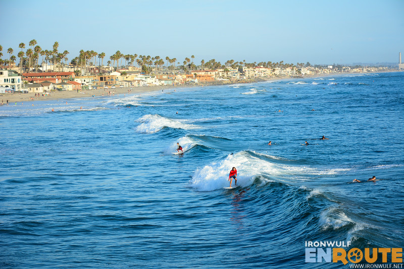 Surfing at Oceanside California