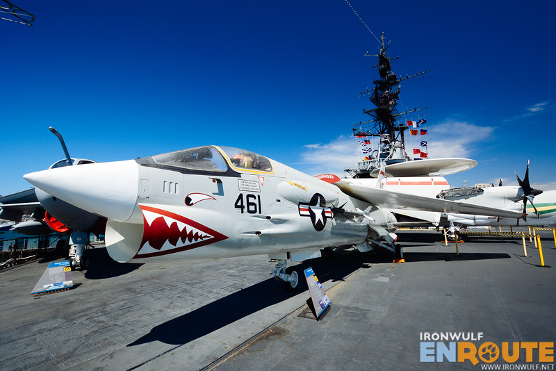 The cool looking F-8 Crusader fighter