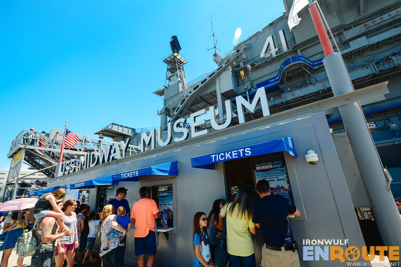 The USS Midway Museum ticket counters