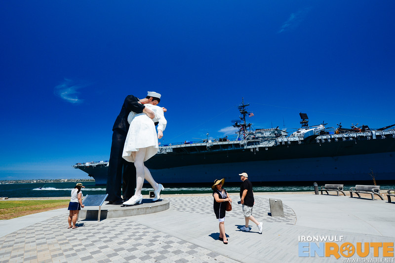 The Unconditional Surrender and the USS Midway at the background