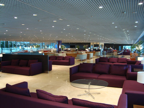 Stuck in the airport VIP lounge