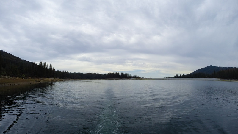 Pontoon Boat on Bass Lake