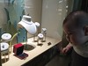 Apollo checking out the diamonds at the Cartier store in the Singapore Sands Casino.  Only $799,000 for that ring!