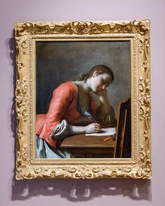 "Pietro Antonio Rotari, ""Young Girl Writing a Love Letter,"" 1755"