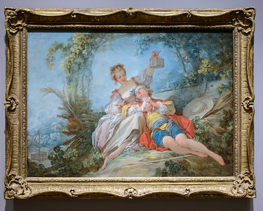 """Jean-Honore Fragonard, """"Happy Lovers,"""" About 1760-1765"""