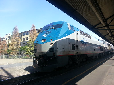 The Amtrak train that Mike's parents were on.