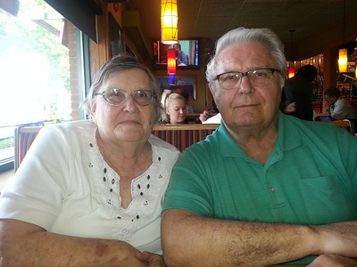 Momma and Pop at Applebees.