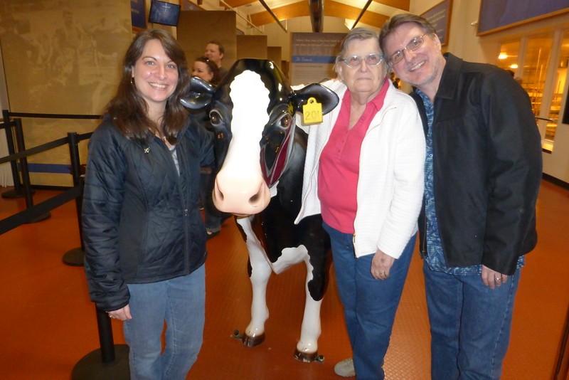Us with Tilly the cow.