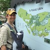Planning our hike on Pulau Ubin.  If only they marked the mosquitos on the map...