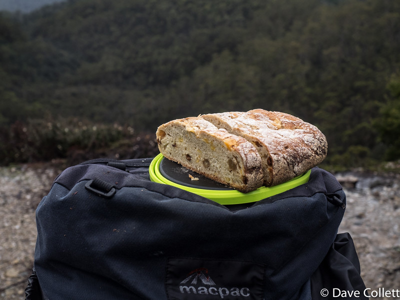 Homemade bread with quite a view! It's got sultanas and dried apricots in it too!