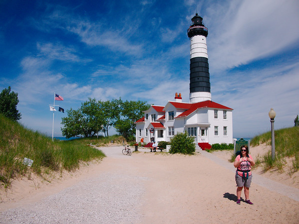 Ludington State Park Backpacking with Selina, July 2016