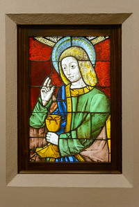 """""""Saint John the Evangelist,"""" c. 1380-1410, Stained and Painted Glass"""
