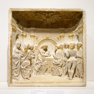 """""""The Presentation in the Temple,"""" Workshop of Benedetto Briosco and Tommaso Cazzaniga, aft. 1484, Marble with Gilding"""