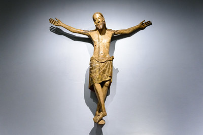 """""""The Dead Christ,"""" Spain, 1250-1300, Wood with Paint"""