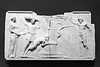 """""""Four Reliefs with Bacchus and His Companions,"""" Roman, 100-1 B.C., Marble"""