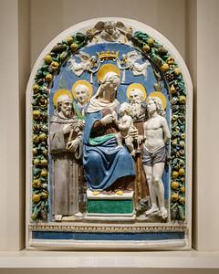 """The Madonna and Child with Saints,"" Benedetto Buglioni, c. 1500-1520, Glazed Terracotta"