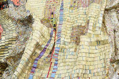 """""""Dusasa I,"""" El Anatsui, 2007, Found Aluminum and Copper Wire"""