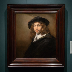 """Portrait of a Young Man,"" Rembrandt Harmensz. van Rijn, Holland, 1666, Oil on Canvas"