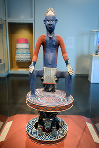 """""""Throne,"""" Cameroon, Late 1800s, Wood, Fiber, Beads and Shells"""