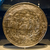 """""""Platter with a Lion and Palm Tree,"""" Roman, 375-450 B.C., Silver and Gold"""