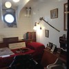 One of the officer's cabins. Blurry, but kept because the sword on the wall is just so good.