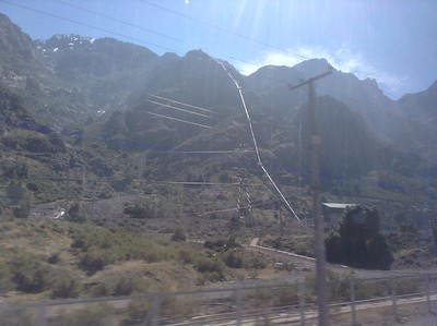 Bus across the Andes