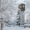 Winter Clock Tower